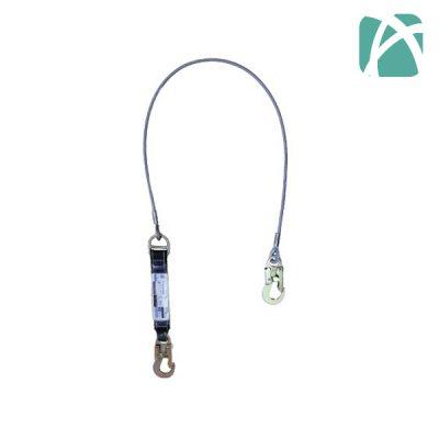 Absorbedor de Cable de Acero 1.80mts Mosquetón STD